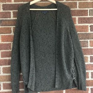 American Eagle Outfitters Green Cardigan